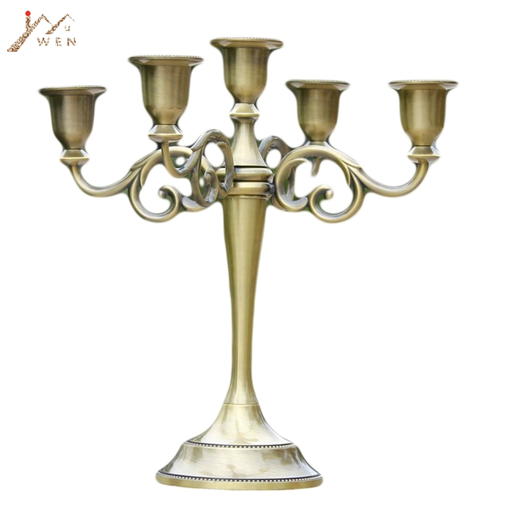 Silber/Gold/Bronze/Schwarz 3-Arme Metall Säule Kerzenhalter Leuchter Hochzeit Dekoration Stehen Mariage Hause dekor Leuchter