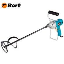 Дрель-Миксер Bort BPM-850 (Мощность 820 Вт, скорость вращения 450 об/мин, диаметр лопасти 100 мм, дополнительная рукоятка)
