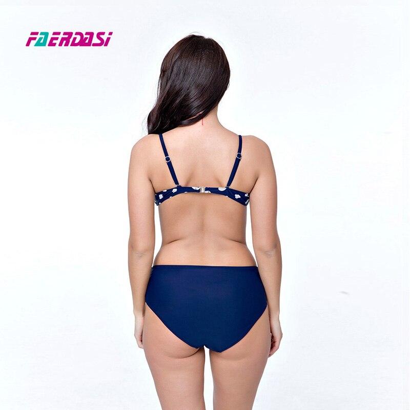 Faerdasi Polka dot Bikini set Kadınlar Patchwork Biquini Artı - Spor Giyim ve Aksesuar - Fotoğraf 5