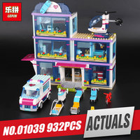 Lepin 01039 Genuine Girl Series The Heartlake Hospital Set 41318 Building Blocks Bricks Funny Christmas Gift