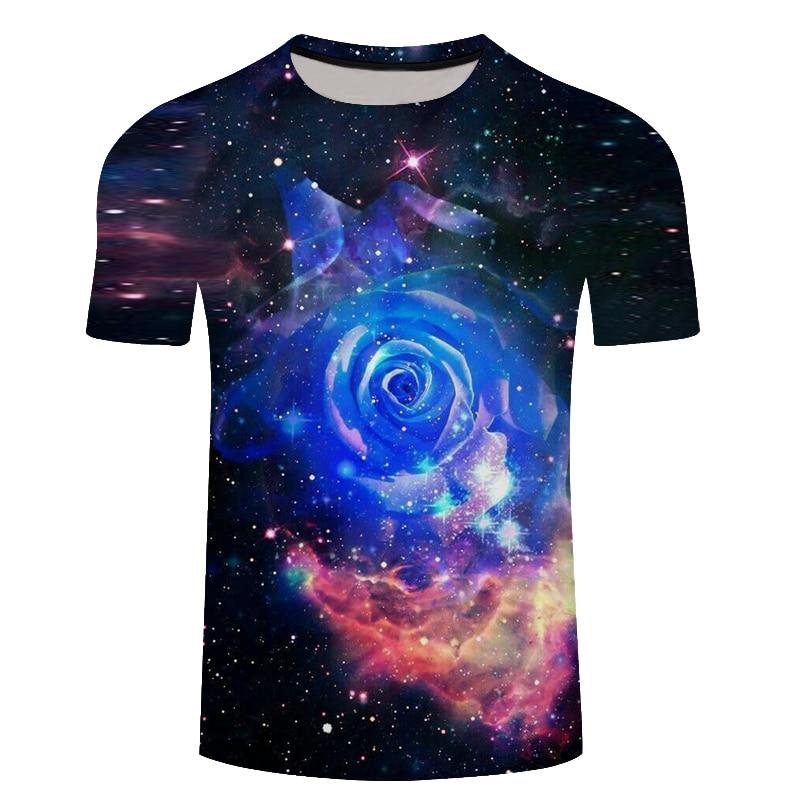 Brand galaxy T shirt Space T-shirts funny 3d t-shirt 2018 hip hop mens clothing china galaxy shirts chinese printed tee