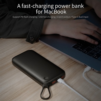 Baseus 20000mAh Power Bank Double Quick Charge 3.0 USB External Battery for iPhone 11 Pro Max 18W PD Fast Chagring Powerbank 1