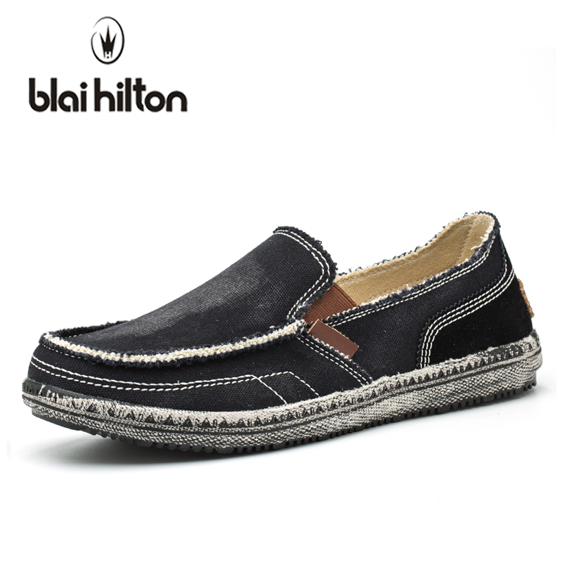 blaibilton 2018 New Summer Color Patchwork Vintage Canvas Loafers Men Casual Shoes Boat Fashion Sewing Moccasins Slip On Driving blaibilton summer loafers men shoes 100