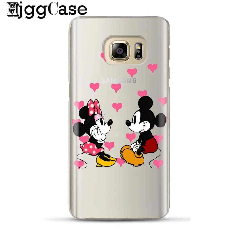 Cassa del telefono di Mickey Minnie mouse Per Samsung Galaxy S6 S7 Bordo S8 S9 più J2 J3 J4 J5 J6 J7 a3 A5 A6 A7 2016 2017 A8 più 2018