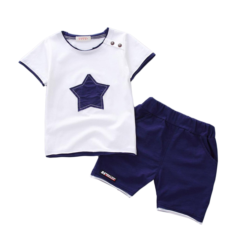 1 2 3 4 Year Boys Clothes Summer Style Cotton Kids Suits for Boys 2018 New Casual Baby Children Clothing Set Toddlers Costume