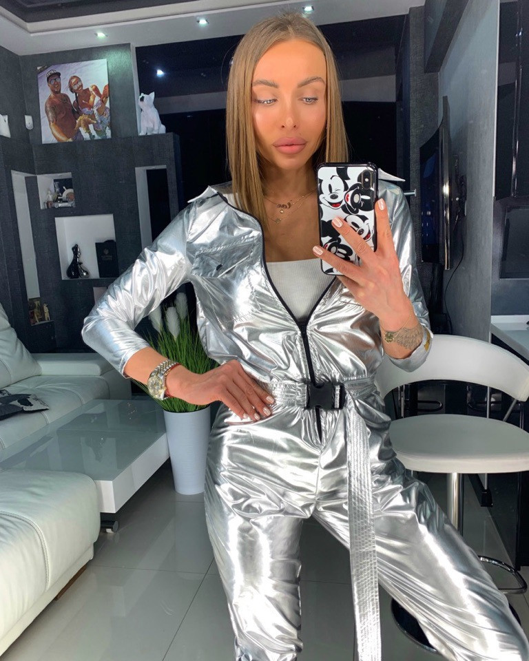 Women's Two-piece Suit Fashion 2019 New Sports One-piece Sweater Jogging Casual Sports One-piece Trousers Women's Sports Suit
