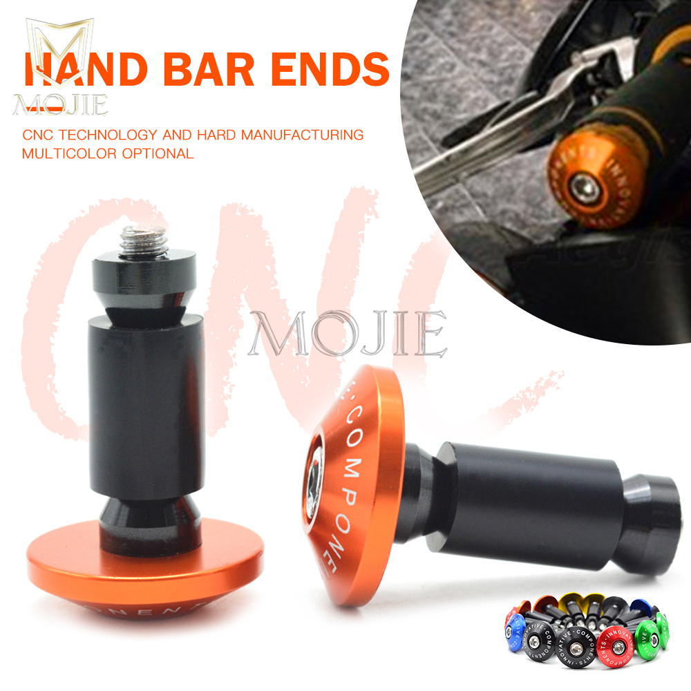 Orange Aluminium Handlebar end plug For KTM 125 200 390 DUKE O2