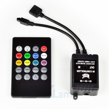 Newest LED Music IR Controller 12V 6A 20 Key RGB Remote Controllers for 3528 5050 Striplight Mini
