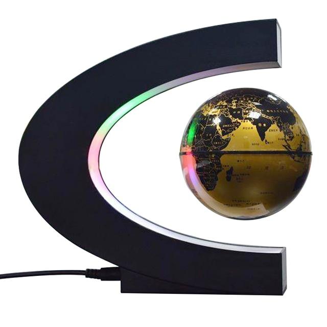 Gold c shape led world map floating globe magnetic levitation light gold c shape led world map floating globe magnetic levitation light antigravity magic gumiabroncs Choice Image