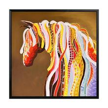 Youran 5d DIY Diamond Painting Embroidery Full Round Square Art Abstract Horse Mosaic Pattern Animal Wall Decor Picture