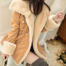 Fashion Women s Warm Coat Winter Faux Fur Hooded Parka Turn down Collar Overcoat Long Jacket