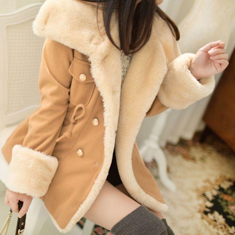 Fashion font b Women s b font Warm Coat Winter Faux font b Fur b font