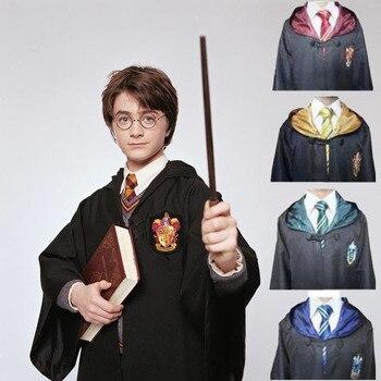 Harry Potter Abiti Del Capo Hogwarts Uniform Mantello Grifondoro Corvonero cosplay Magia Robe costume di Halloween per i bambini e adulti