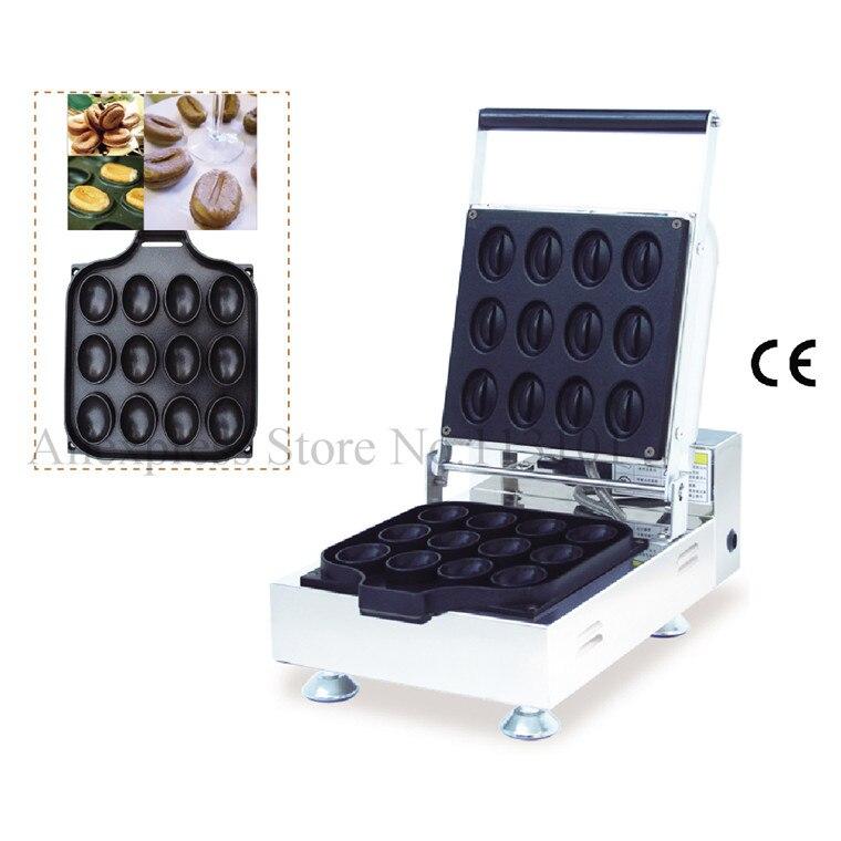 Komercinis kavos pupelių vaflių aparatas Kavos pupelių formos vaflių aparatas su nelipniu virimo paviršiumi