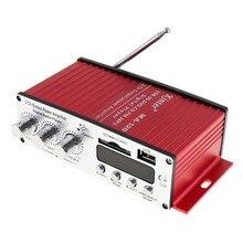 Universel 20 W X 2 HiFi 2 Canaux Puissance de Sortie Amplificateur FM Radio Stéréo Lecteur Support USB SD DVD MP3 Entrée avec Télécommande contrôle
