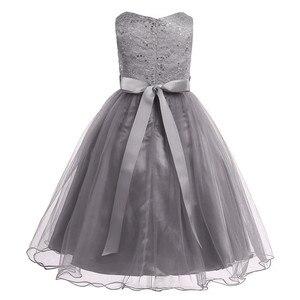 Image 5 - ילדים בנות נצנצים תחרה רשת מסיבת נסיכת שמלת פרח ילדה שמלת ילדי נשף כדור שמלות חתונה רשמי יום הולדת