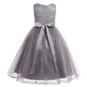 Image 5 - Kids Girls Sequined Lace Mesh Party Princess Dress Flower Girl Dress Children Prom Ball Gowns Wedding Birthday Formal Dress