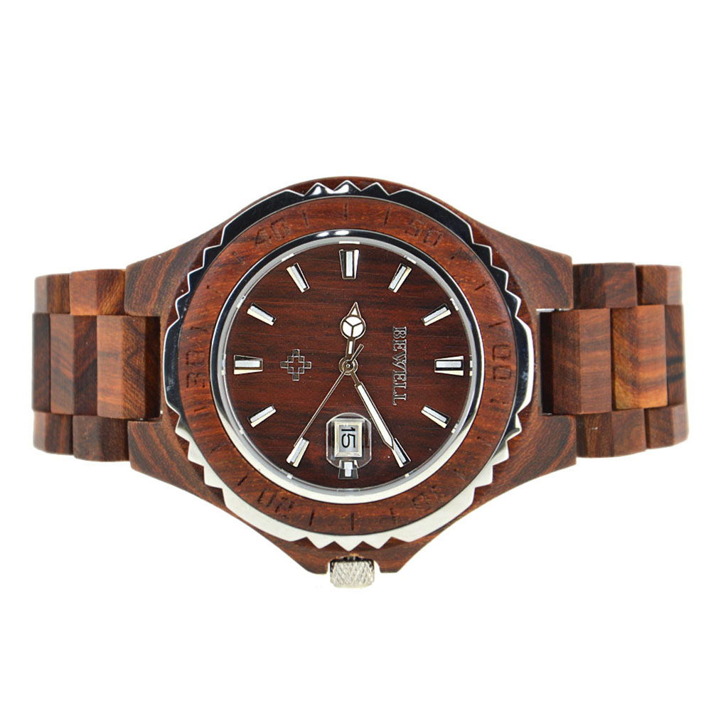 Bewell Handmade Men Wooden Watch Quartz Fashion Wrist Watch for Gift #1 bewell men imported quartz movtment wooden watch man fashion calendar wood wrist watch waterproof wristwatch