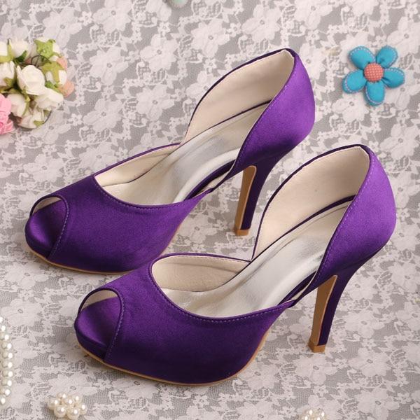 purple heels wedding