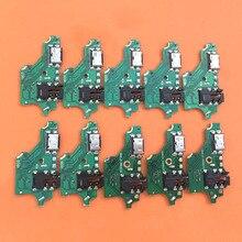 10 pçs/lote para huawei p20 lite p20lite placa de carga usb doca porto plug conector carregamento cabo flexível