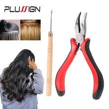 Plussign 1 шт. Красный Наращивание черных волос плоскогубцы+ 1 шт. деревянные иглы для микроскопов зажимы звенья бусины и палочки волос Extesnion
