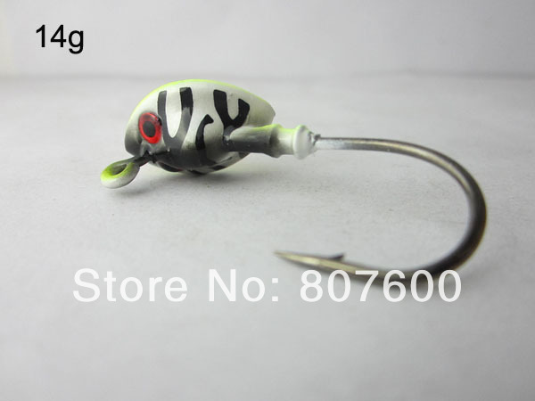 Fishing Live Bait Jig Lead Fish Jig Head Hook 14g Tiger Head 4 Pcs ...