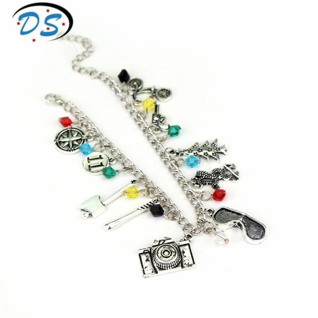 6bd152f41309 Extraño cosas encanto pulseras colgantes de cadena de enlace brazaletes  hechos a mano pulsera accesorios pulseras