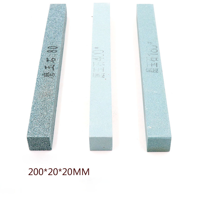 Grit 80~2000 Jade Polished Oil Stone High Hardness Green Silicon Carbide Whetstone Abrasive Block for ceramic Knife 200x20x20mm цены