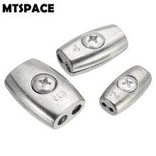 Mtspace 2/4/6 мм кабельный зажим нить трос сцепление кабель Simplex зажим Никель-фосфора Сплав серебра для яхт приложений