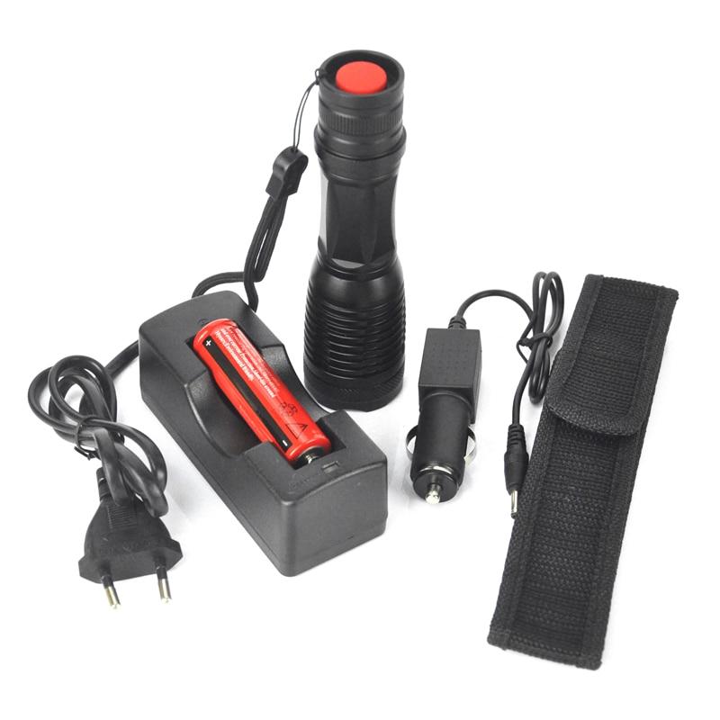 BORUIT Lanterna XM-L T6 Tactical Flashlight 8000Lumen LED Torch Zoomable LED Flashlight 5 Modes Torch Light For 3xAAA or 1x18650 led flashlight 3800 lumnes cree xm l t6 led tactical flashlight torch 5mode zoomable flashlight waterproof torch light lanternas