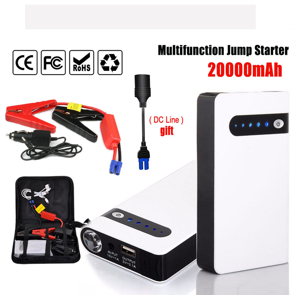 20000mAh Portable Car Jump Starter Power Bank Vehicle Battery Charger 12V Emergency Startup Power car Battery Charger