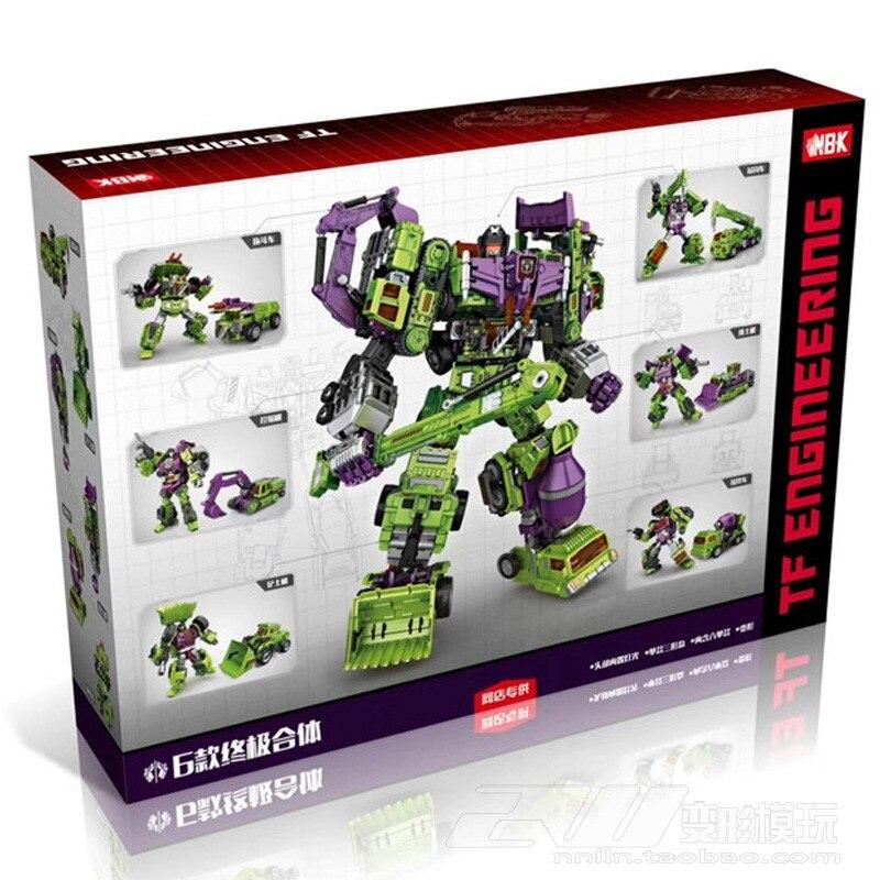 6 dans 1 NBK Transformation Robot Ko Version Gt Grattoir De Devastator Action Figure ToysOutdoor Plage