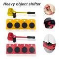Conjunto de Móveis Que Se Deslocam Transporte pçs/set 4 5 o Rolo Motor + Roda 1 Bar Levantador de Transporte de Móveis Domésticos Conjunto de Ferramentas de Mão