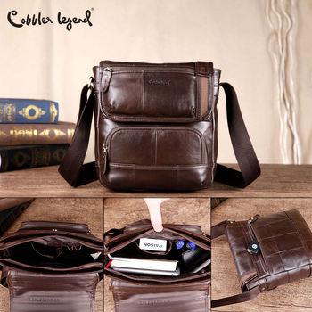 цена на Cobbler Legend Cow Genuine Leather Messenger Bags Men Travel Business Crossbody Shoulder Bag for Man Casual Shoulder Handbags
