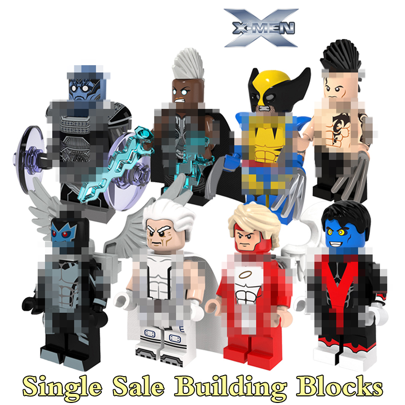 1PC X-Man Daken Apocalypse Magneto Wolverine Nightcrawler Archangel diy figures Avengers Superhero Building Blocks Kids Toys микроволновая печь sinbo smo 3657 smo 3657