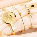 Xinge Famosa Marca De Luxo Mulheres Bracelet Watch Jóias Conjunto Relógio de Pulso Das Mulheres de Cristal Pedra Preciosa Pedra de Quartzo Relógios
