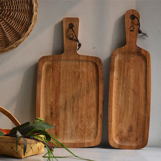 Export baking bread board lacquerless oak wood chopping board chopping board fruit dessert plate cake tray pallet