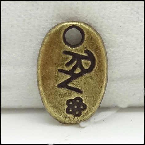 Moda 20 unids/lote 10mm * 7mm Chapado en bronce antiguo pequeña etiqueta encantos diy Collar para hacer joyas