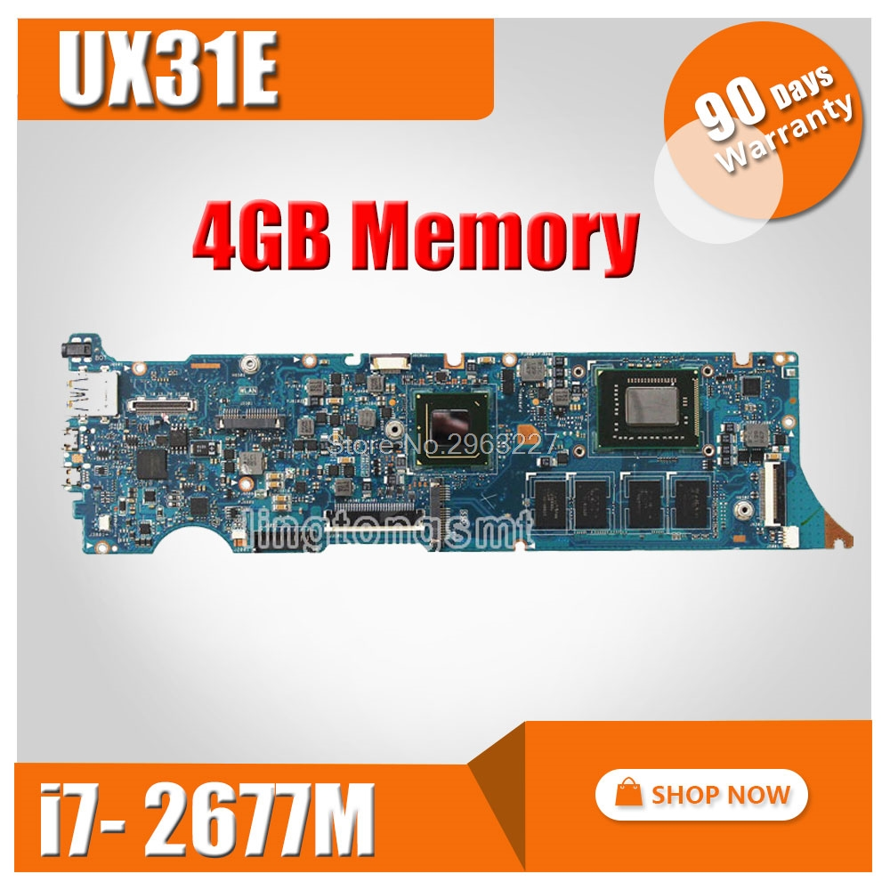 UX31E Motherboard REV3 2 i7 2677 4G Memory For ASUS UX31E Laptop motherboard UX31E Mainboard UX31E