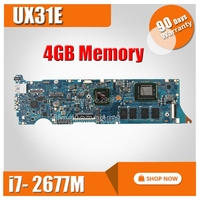 UX31E Motherboard REV3.2 i7 2677 4G Memory For ASUS UX31E Laptop motherboard UX31E Mainboard UX31E Motherboard test 100% OK