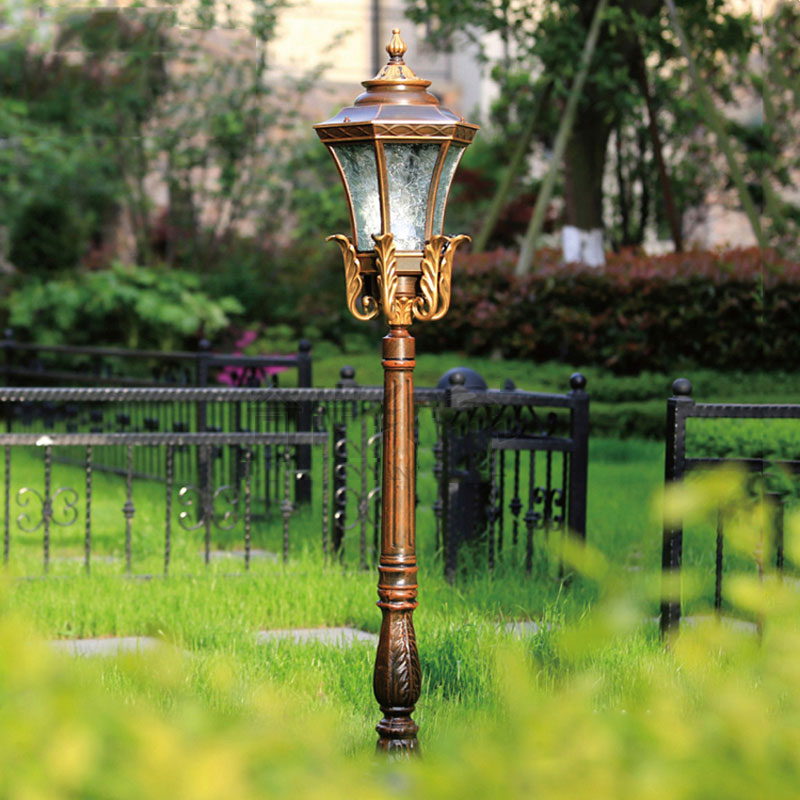 Europe lawn lamp outdoor garden road lighting luxury backyard decoration bollard light 139cm WCS-OLL0024