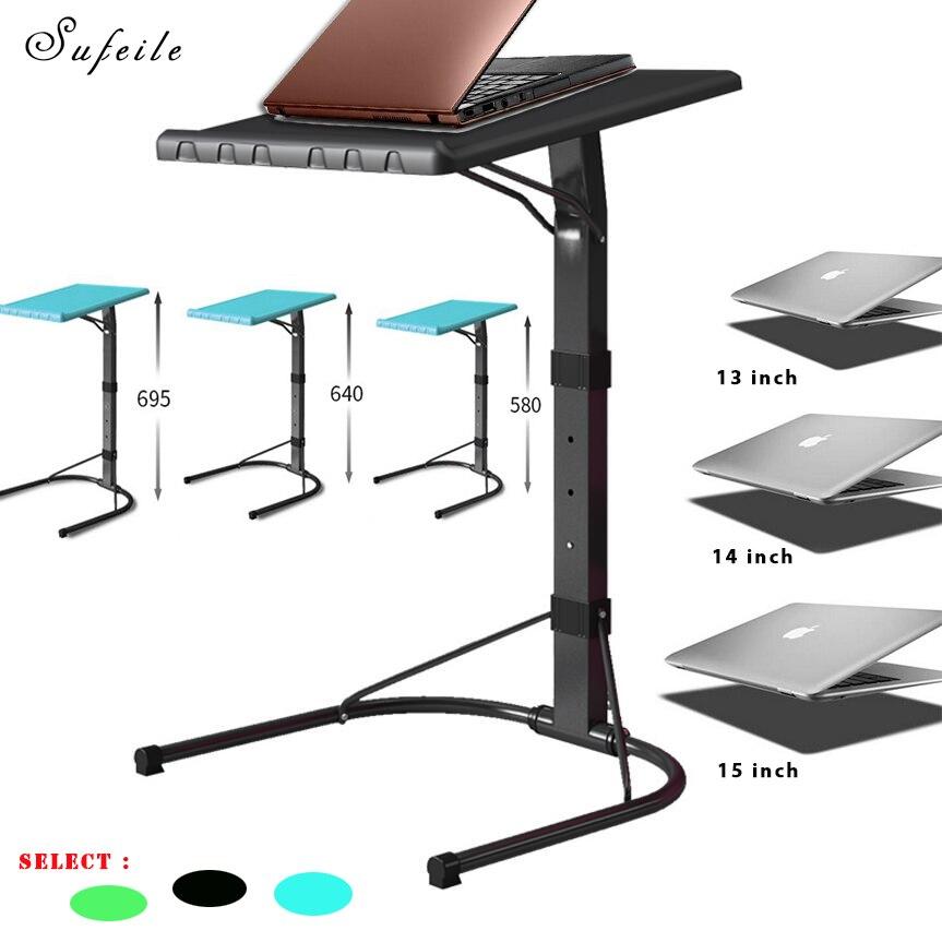 sufeile portable folding laptop desk outdoor table can adjust computer desk metal office laptop desk