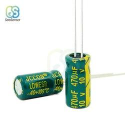 50 sztuk wysokiej częstotliwości niski ESR aluminiowy kondensator elektrolityczny 10V 470uF 6x12mm|Mierniki pojemności|   -