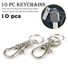 Silver Color Swivel Lobster Clasp Clips Hook Key chain Split Ring Hot Sale For Birthday Gifts Bag