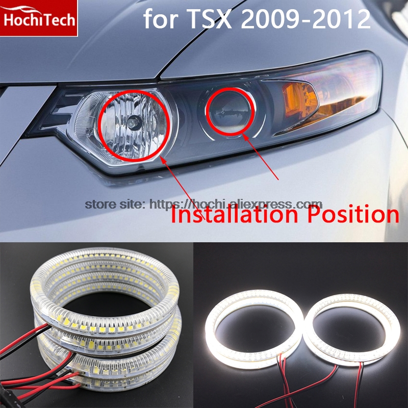 Ultra bright SMD white LED angel eyes 1600LM 12V halo ring kit no error for Acura TSX 2009 2010 2011 2012