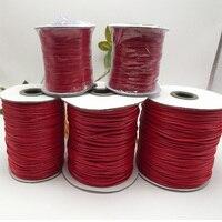 1 рулон красный цвет вощеный шнур хлопка Нитки веревку плоские украшения ремесла Бисер строку 1 мм/2 мм