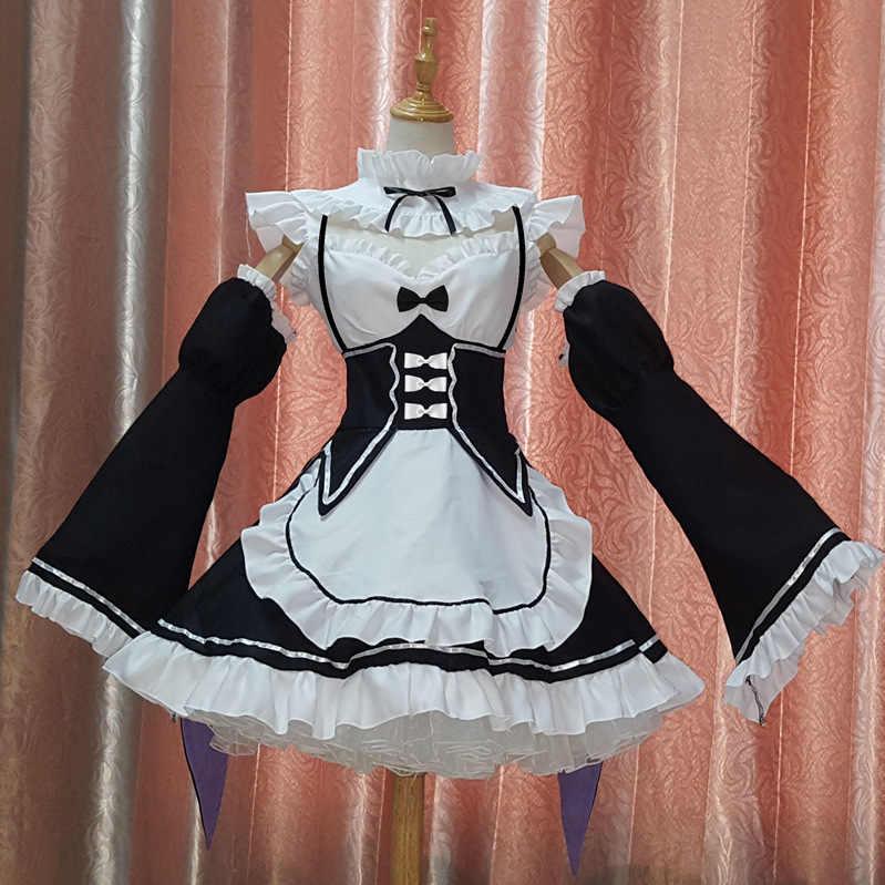 再ゼロ ram とレムコスプレ再: ゼロカラ hajimeru isekai seikatsu relife メイド衣装コスプレロリータアニメ衣装