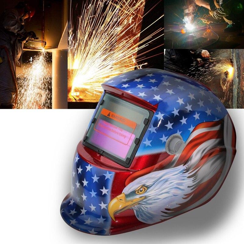 2018 New Pro Solar Welder Mask Auto Darkening Welding Helmet Eagle head|  - title=