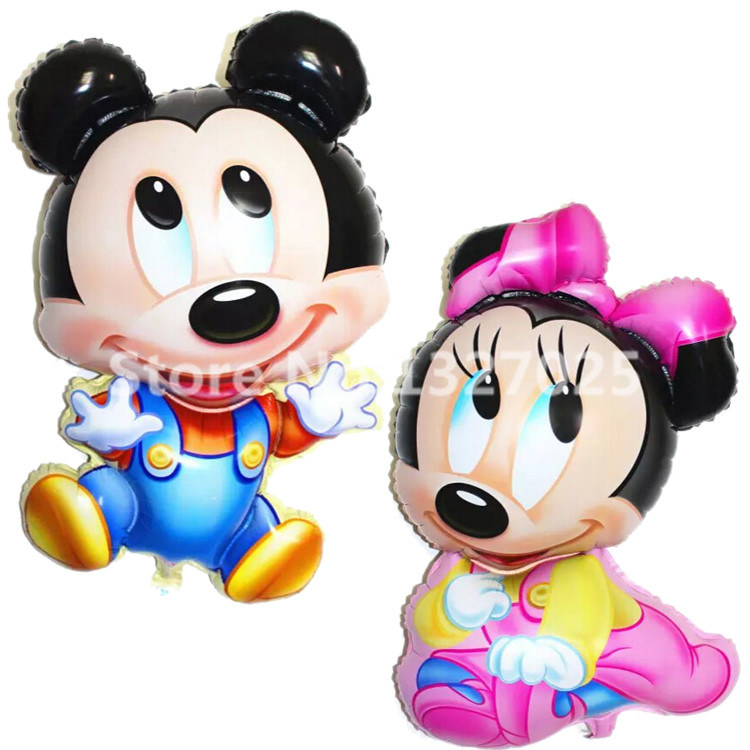 Home & Garden Sensible Fashion Childrens Toys 1pcs/lot Big Mickey Minnie Balloons Helium Christmas Birthday Party Decoration Large Balls Compleanno As Effectively As A Fairy Does Festive & Party Supplies