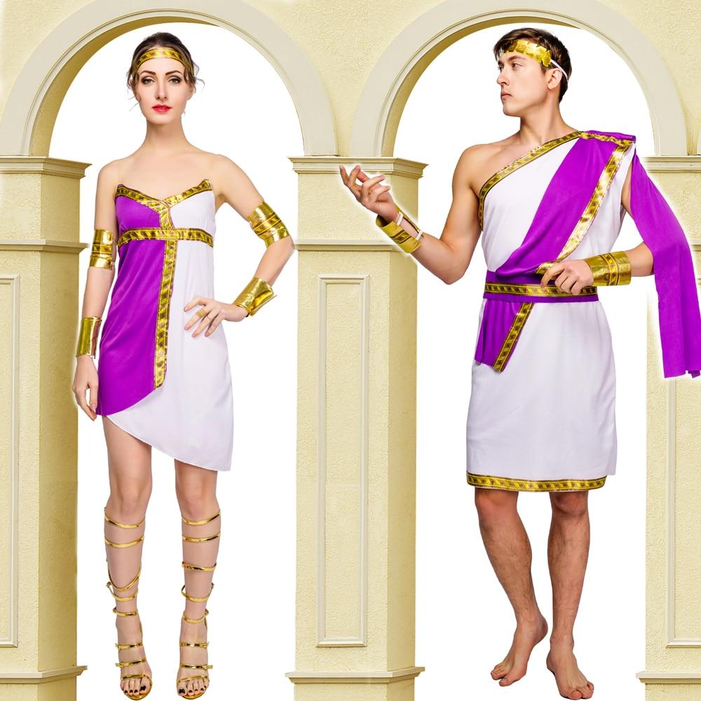 Man&Women Ladies Roman Princess Fancy Dress Halloween Greek Goddess Grecian Roman  Outfit Costume
